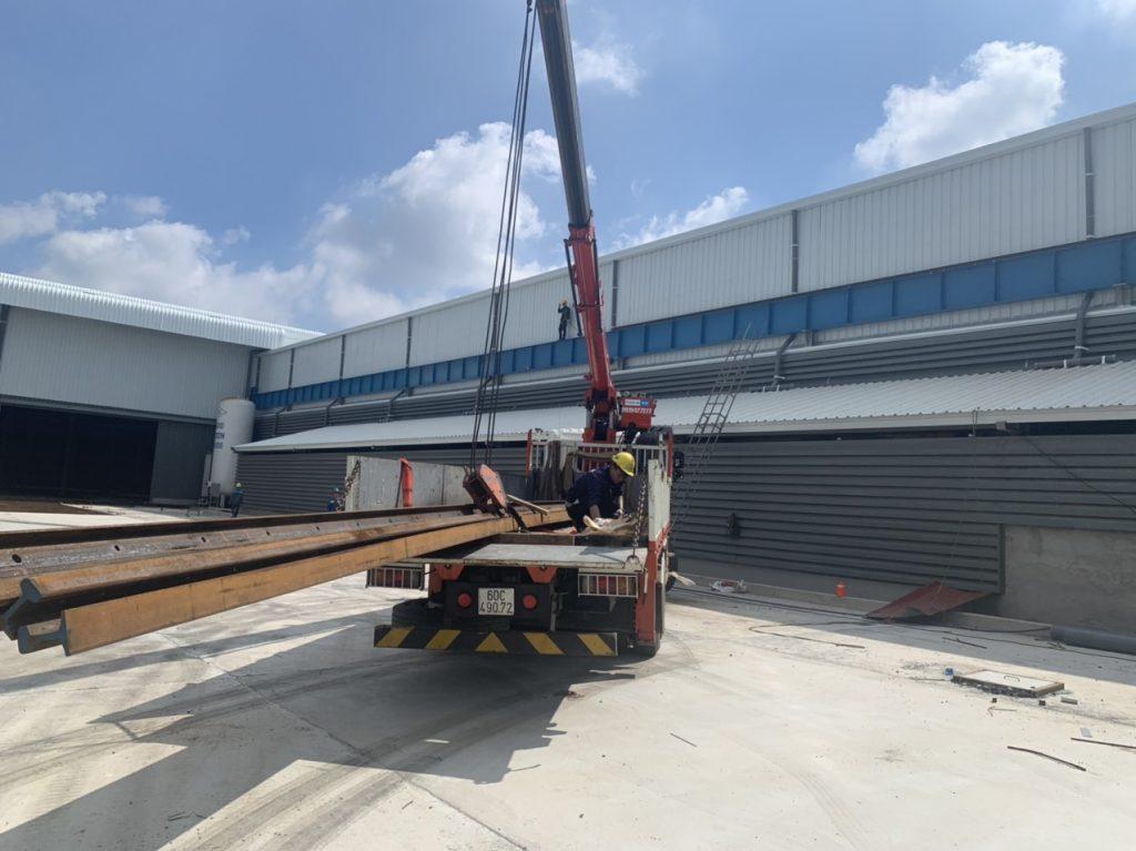 Lắp rail cầu trục 20ton