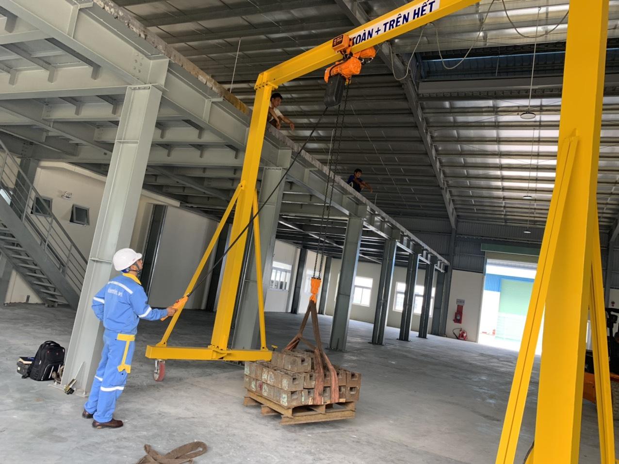 test tải cầu trục 2 tấn