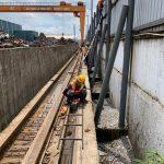 Lắp đường rail cầu trục kcn KSB Tân Uyên