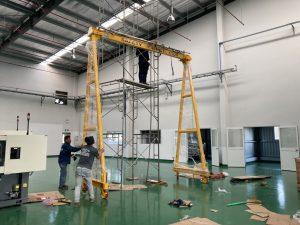Lắp đặt cẩu trục 1 tấn KCN Long Đức 1 300x225 - Lắp đặt cẩu trục 1 tấn