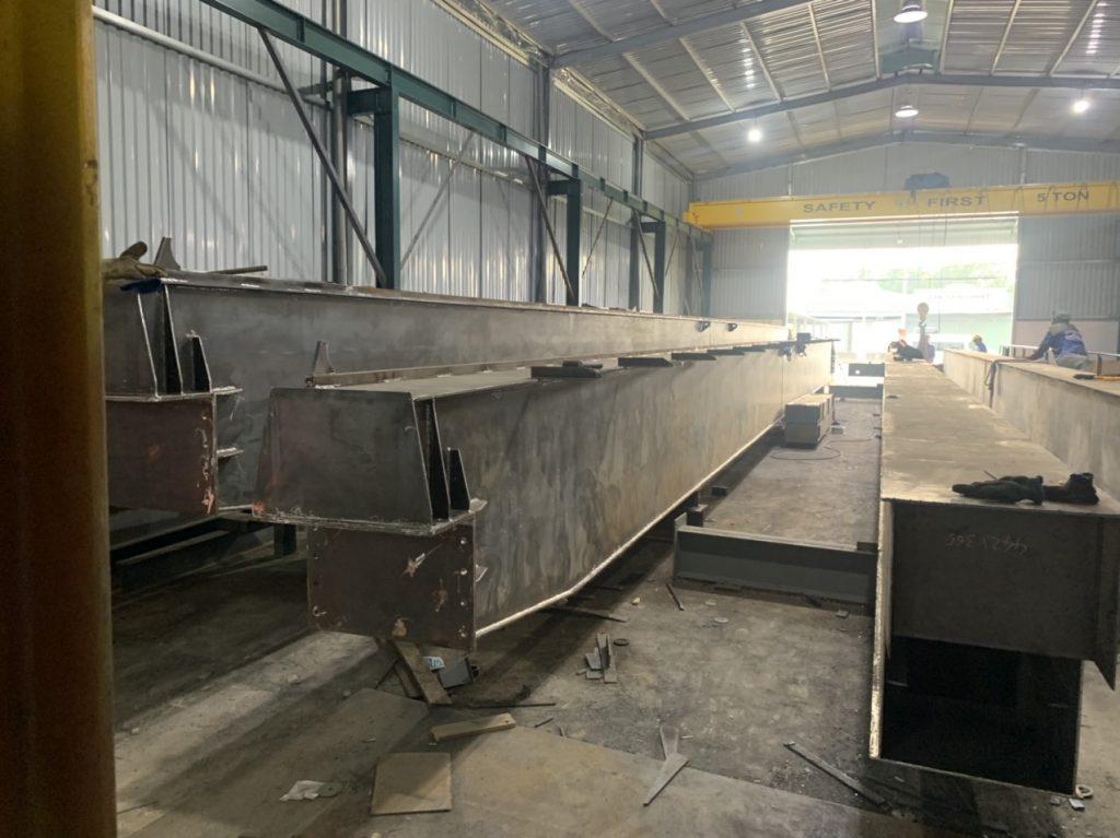 Gia công Cẩu trục dầm đôi 5 tấn và 10 tấn