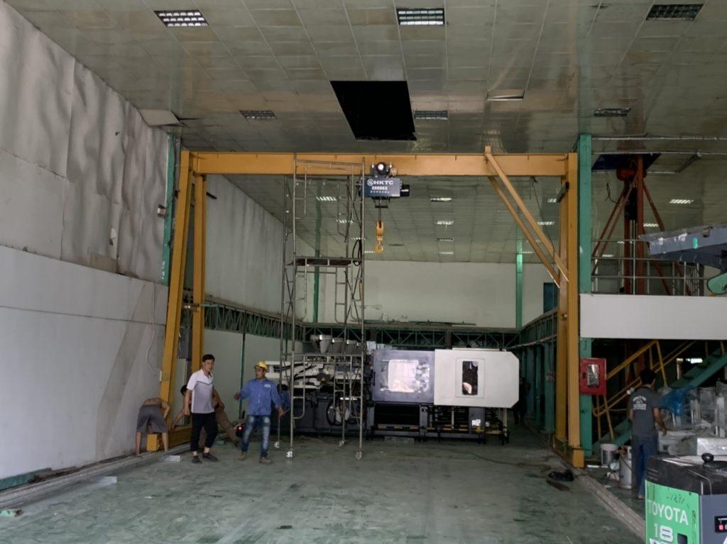 Vận chuyển lắp đặt cổng trục 3 tấn Kcn Nhơn Trạch 3