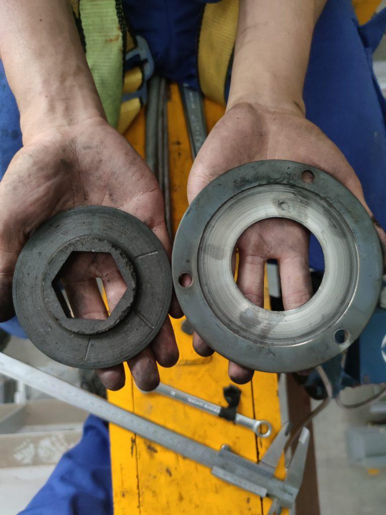 Thay thế bộ thắng moto dầm biên cẩu trục 5 tấn KCN nhơn trạch